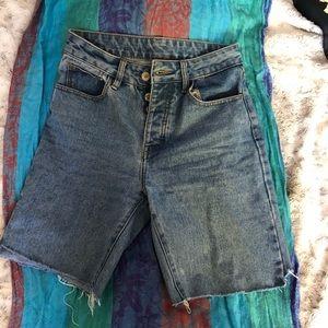 Brandy Melville denim cropped shorts